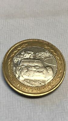 Isle of man £2 two pound coin 1998 car