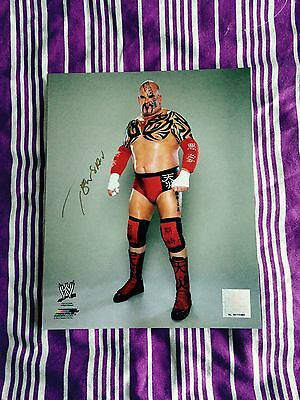 Wwe Nxt Tensai Signed Official Promo Rare A Train Proof