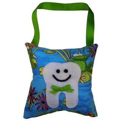 Tooth Fairy Pillow Boy's or Girl's Frog Design Print Handmade in the USA **NEW**