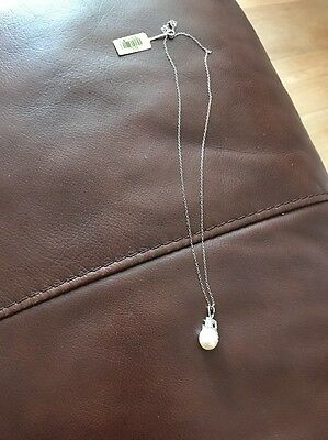 925 Silver Necklace With Pearl Pendant