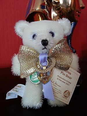 Hermann Aries 2001 Mohair Pin Bear With Tags