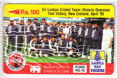 Coca Cola Coke Telecarte / Phonecard .. Sri Lanka 100Rs Gpt 14Srl Cricket Neuve