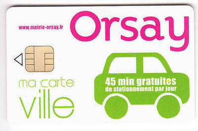 Piaf Parking Carte / Card .. 45Mn Orsay 95 Auto V° 8N°N Chip/puce