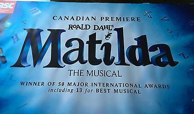MATILDA Toronto MUSICAL Ronald Dahl One Of A Kind Marquee Sign Banner