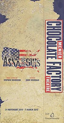 "Jamie Parker appears in the Sondheim musical ""ASSASSINS Menier Choc Factory 2015"