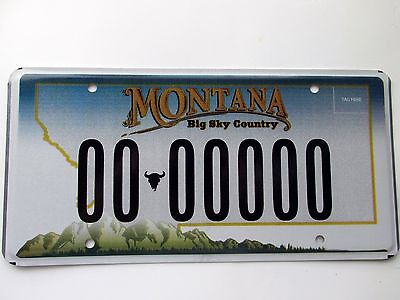 2006 Montana Sample License Plate