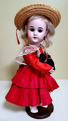 "Antique German 12 1/2"" Simon & Halbig 1079 DEP Bisque Head Doll"
