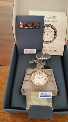Marquis by Waterford Snoopy Peanuts Flying Ace Lead Crystal Clock