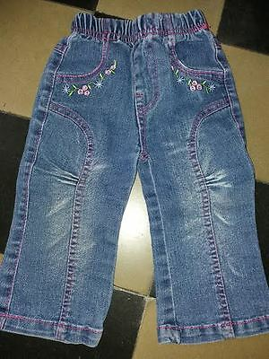 jean    fille taille 1an