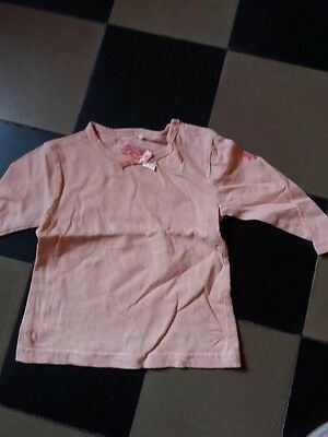 tee-shirt longues manches    fille taille 1an
