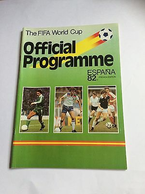 FIFA World Cup 1982 Programme French Edition