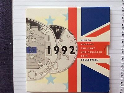 uncirculated coin collection UK 1992 w 1992/93 EEC 50p coin