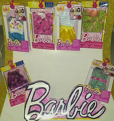 """BARBIE 6-Pc Lot """"FASHION / Life In The Dreamhouse Singles"""" NEW, NICE, FREE SHIP!"""