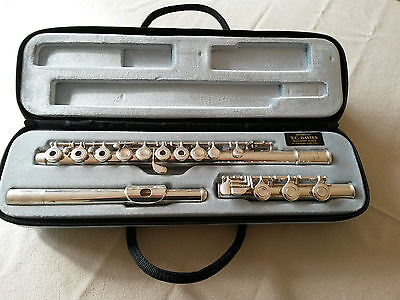 Yamaha Yfl481 Solid Silver Tube Flute With B Foot & Case Serviced Ready To Play