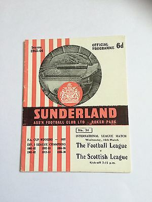 Football League v Scottish League 18/3/64