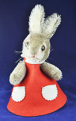 Steiff Betthupferl Hase / Cap Hide a Gift Rabbit, 3172/15 1968-72, Knopf, button