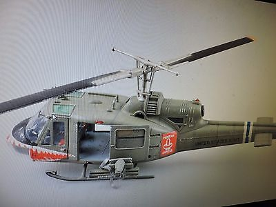 MERIT 1/18th SCALE HUEY UH-1 ASSAULT 174th SHARK HELICOPTER  ( # 60028  )PREMADE