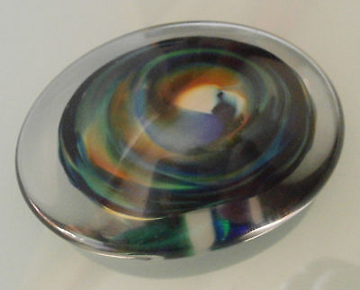 Briefbeschwerer -  Paperweight - oval  - Glass Bor - Tschechien
