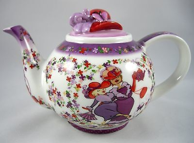 Red Hat Society Tea Time Small Betty Tea Pot with Red Hat Lid Cardew Design 2004