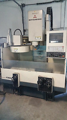 Mitsubishi V360 Vertical CNC Mill with tool holders and book....