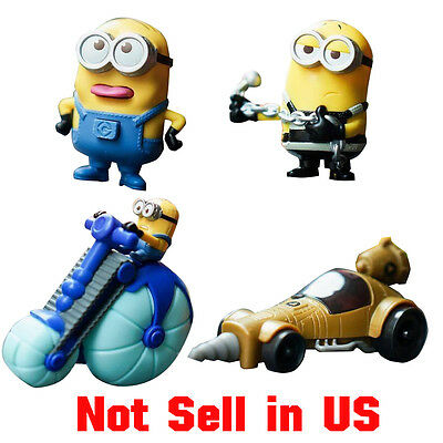 4 x MCDONALDS MINIONS 2017 DESPICABLE ME 3 Movie Asia Not Sell in US