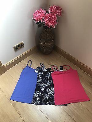 Next bundle Of 3 Stretch Summer Vest Tops Size 12 New With Tags
