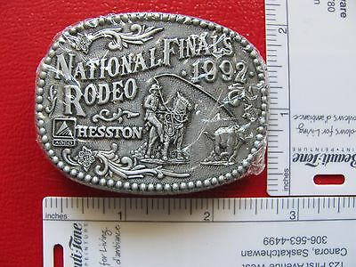 Hesston, 1992, National Finals Rodeo, Limited Miniature Collectors Buckle