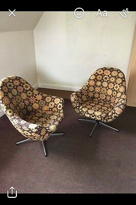 Vintage retro 1960s/70s swivel chairs