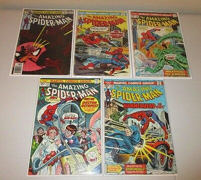 Amazing Spider-Man #130, 131, 146, 147, 188 (1970's Lot of 5) Low Grade Readers