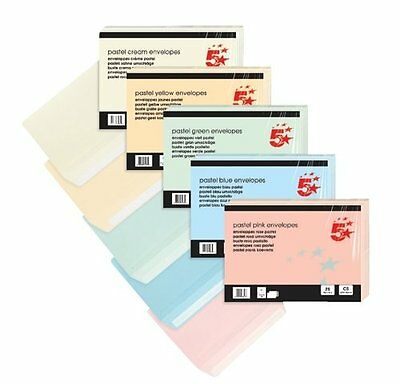 5 Star C5 120gsm Peel and Seal Wallet Envelope - Pastel Yellow (Pack of 25)