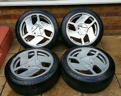 Nothelle Classic Wheels, 16 inch, polished, 5x100 with tyres