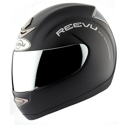 Reevu Rear View MSX1 Motorcycle Helmet Black Matte