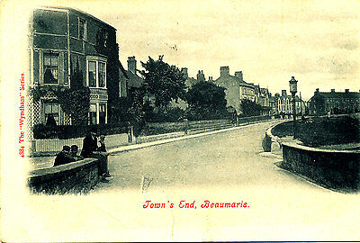 ANGLESEY - 1909 Postcard of Towns End, BEAUMARIS - Rare ??