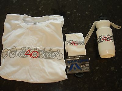 NEW Specialized 40yr anniversary T-shirt, socks, water bottle (FREE POST)