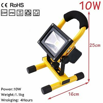 10W Portable Rechargeable Waterproof Metal Shell COB LED Site Working Floodlight