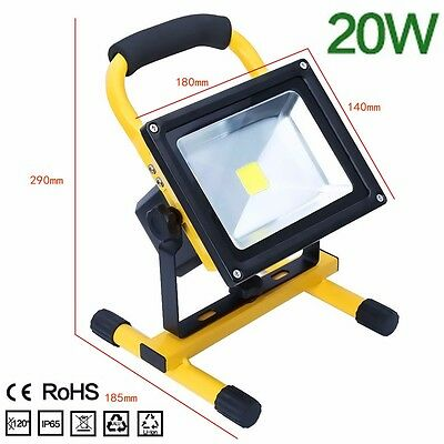 20W Flood Light Portable Rechargeable LED Work LED Site Light waterproof IP65