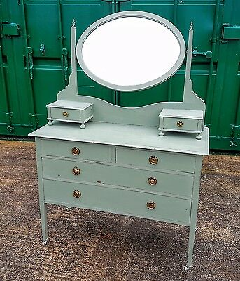 Antique Edwardian Painted Dressing Table Vintage Shabby Chic