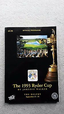 The 1993 Ryder Cup Official Programme, held at the Belfry