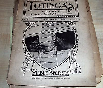 "Vintage magazine ""LOTINGA'S WEEKLY"", illustrated journal of sport May 7th 1910"