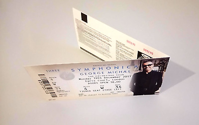 George Michael 2 Symphonica Unused Tickets !!!STILL ATTACHED TOGETHER!!! Wham
