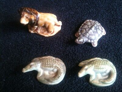 Set of 4 vintage collectable Wade Whimsie animals