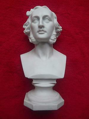 nice 19th century victorian parian bust of composer Mendelssohn