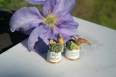 Birds of Britain Thimble Kestral and House Sparrow