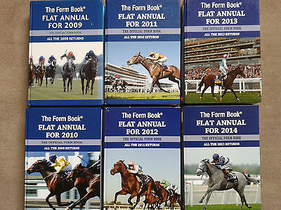 6 RACEFORM FLAT ANNUAL'S ReTuRnS > 2008-2013inc >> FREE POSTAGE