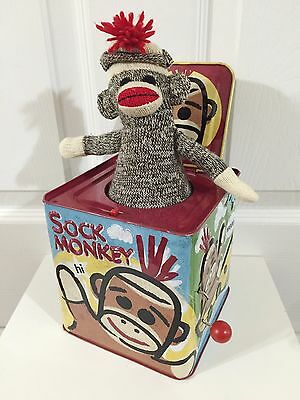 Sock Monkey Jack-In-The-Box By Schylling Plays Pop Goes The Weasel
