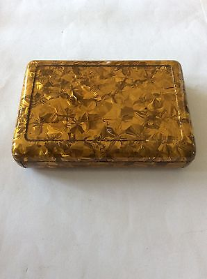Antique Jahnckes Patent Tin Tobacco Metal Sewing Pin Box Trinket C1880