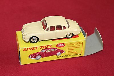 Dinky Toys Jaguar 3.4 Saloon Model No 195 with Box in great condition