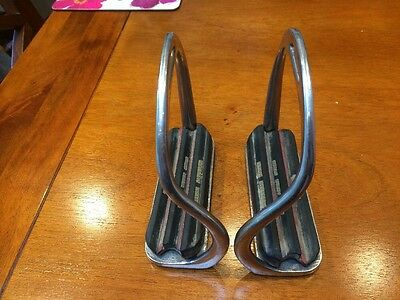 Safety Stirrups With Mountain Horse Treads 4 3/4