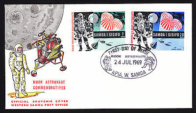 Samoa Honours US Moon Astronauts Space Craft Travel First Day Cover FDC 1969 FDI