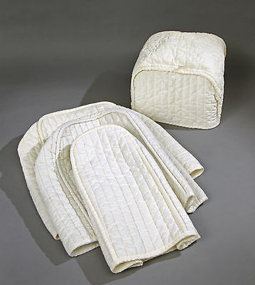 4 Piece Quilted Cream Appliance Covers